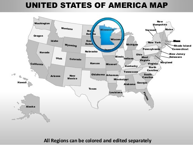 Usa minnesota state powerpoint county editable ppt maps for Oregon state powerpoint template