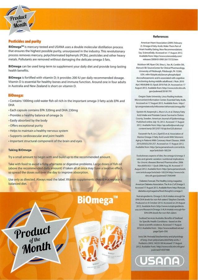 Usana biomega fish oil for Fish oil recommendations