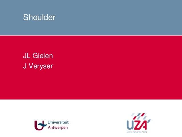 Shoulder JL Gielen J Veryser