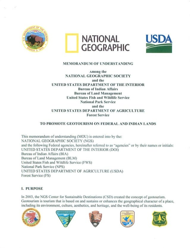 2008 NGCSD and US Dept of Interior MOU