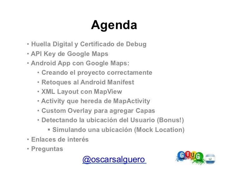 Usando Google Maps en tu Android App Slide 2