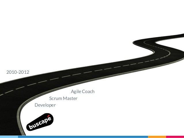 Developer Scrum Master Agile Coach 2010-2012