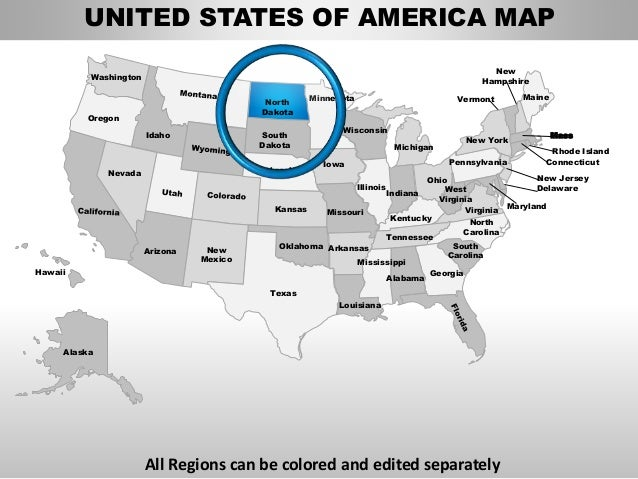 Usa north dakota state powerpoint county editable ppt maps for Oregon state powerpoint template