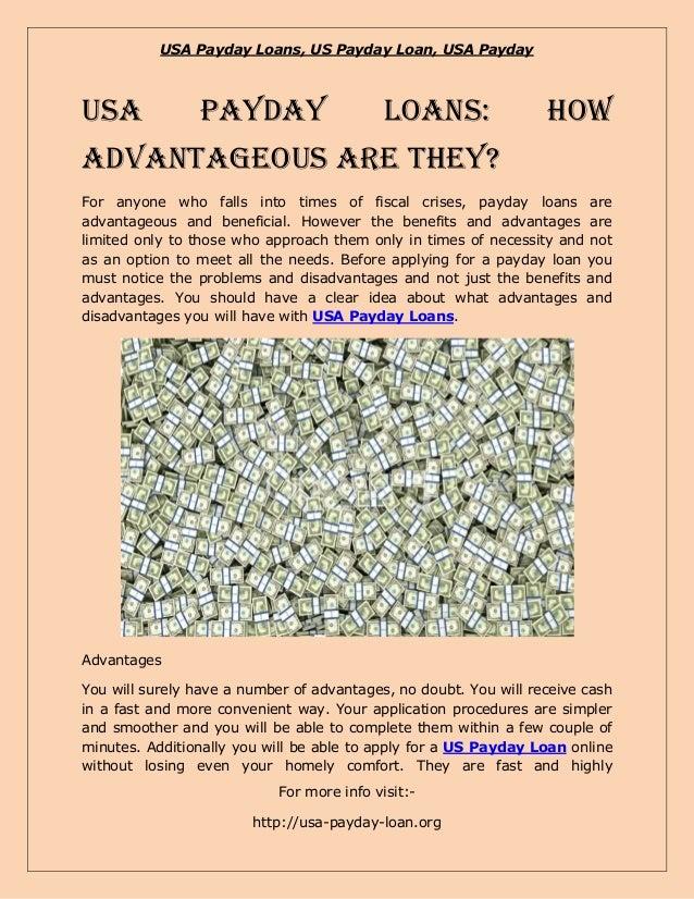 USA Payday Loans, US Payday Loan, USA PaydayUSA             Payday                      Loans:                Howadvantage...