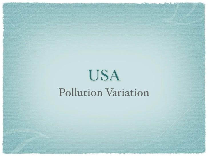 USA Pollution Variation