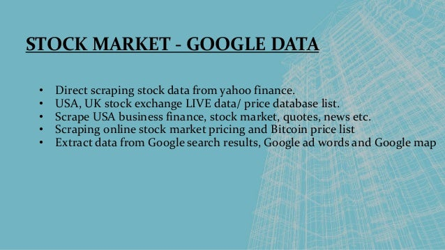 Usa powerful web scraping services