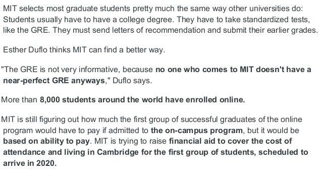 USApps 2017 - MIT Masters Degree