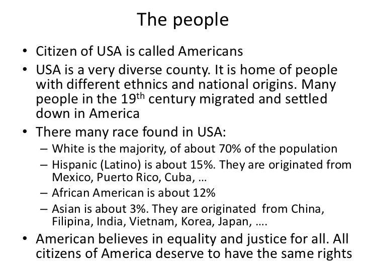 USA Presentation - Usa comes in which continent