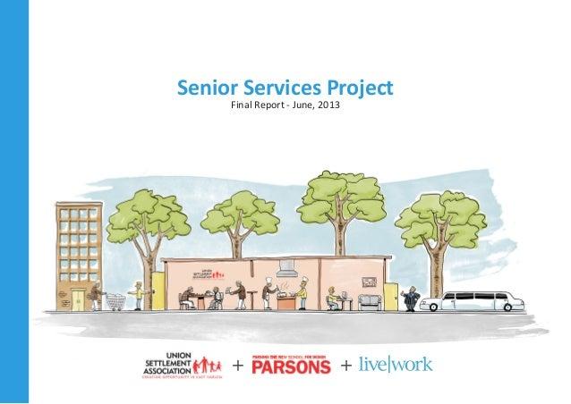 Senior Services Project Final Report - June, 2013