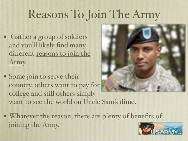 Reasons behind joining the military