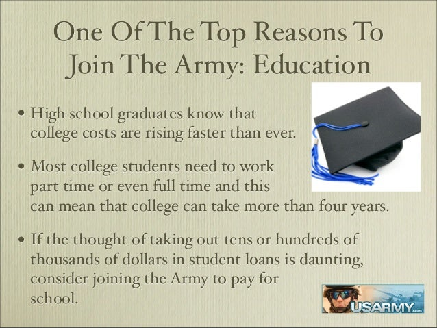 reasons for joining the military essay What are good reasons for joining the air force rather one of the really important reasons to join a military what are some reasons to join the air.