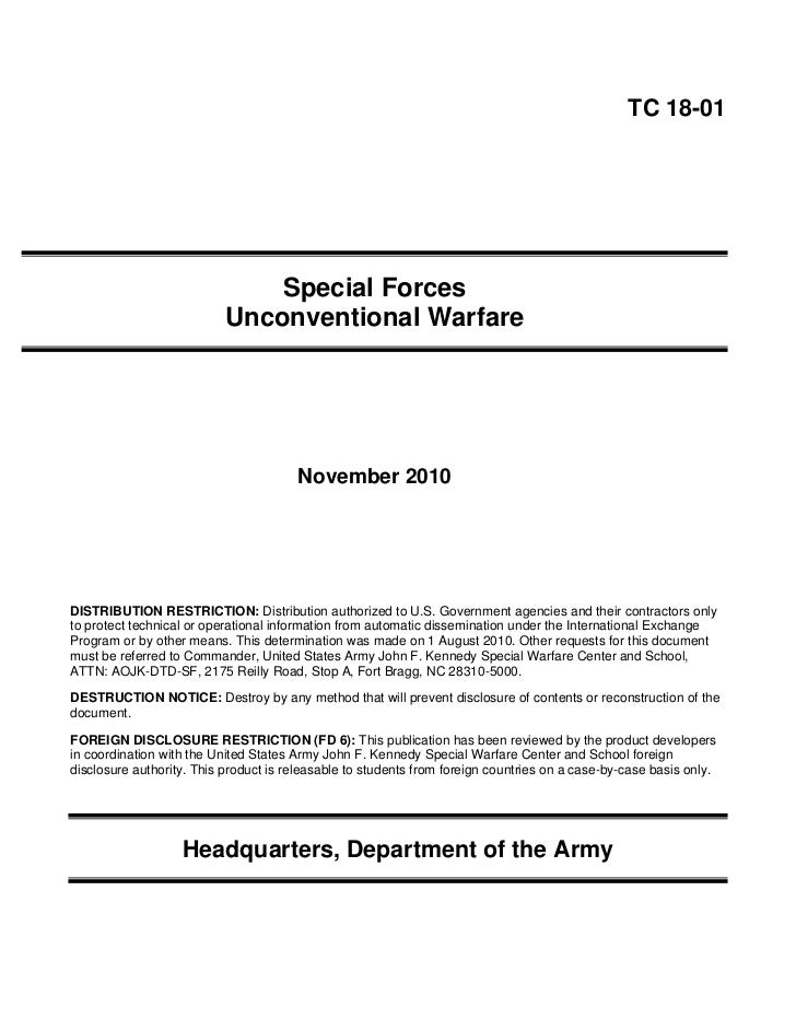 u s army special forces unconventional warfare training manual novem rh slideshare net special forces sniper training manual pdf special forces training guide pdf