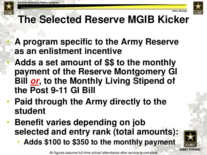 How to Increase Your GI Bill Payment with a GI Bill Kicker ...