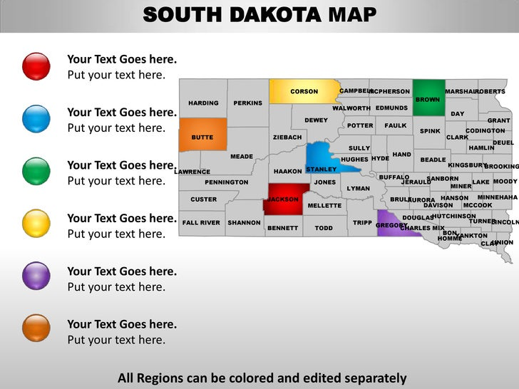 haakon county map with Usa South Dakota State Powerpoint County Editable Ppt Maps And Templates on Battleclontarf moreover Blog additionally 25030185 also South Dakota moreover Jasonwebber.