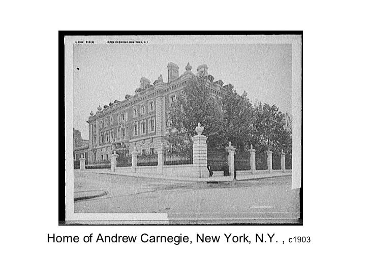 Home of Andrew Carnegie, New York, N.Y. ,  c1903