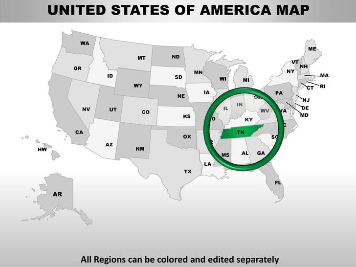 usa tennessee state powerpoint county editable ppt maps and templates