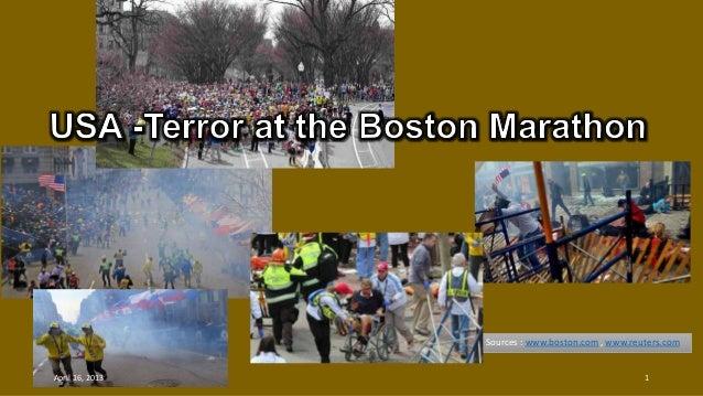 Sources : www.boston.com , www.reuters.comApril 16, 2013 1