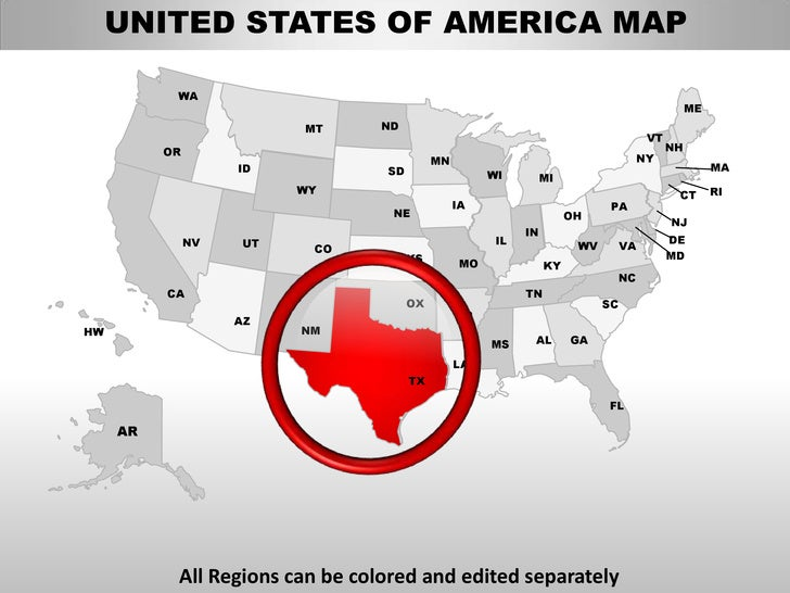 Usa texas state powerpoint county editable ppt maps and templates