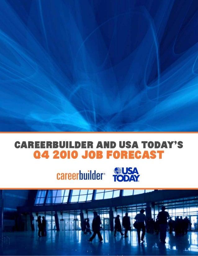 CareerBuilder and USA TODAY's Q4 2010 Job ForecasT