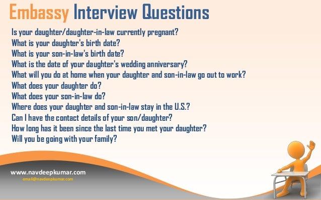 USA Tourist Visa Interview Questions
