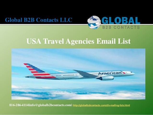 USA travel agencies email list