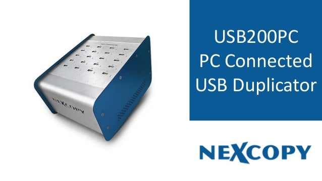 USB200PC PC Connected USB Duplicator