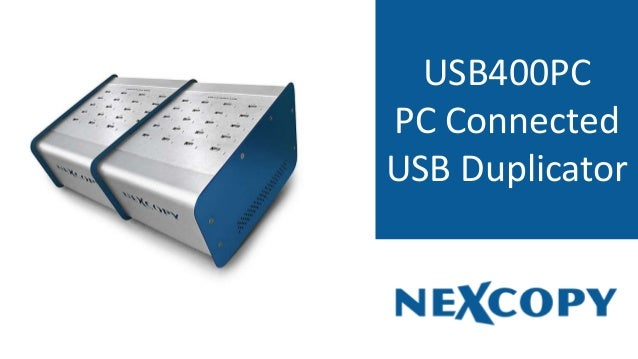 USB400PC PC Connected USB Duplicator