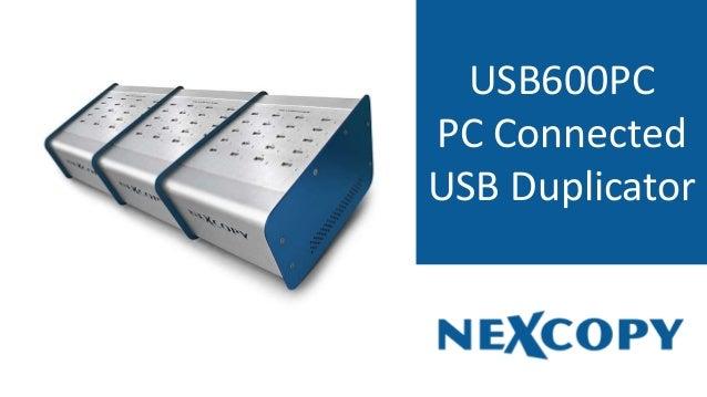 USB600PC PC Connected USB Duplicator