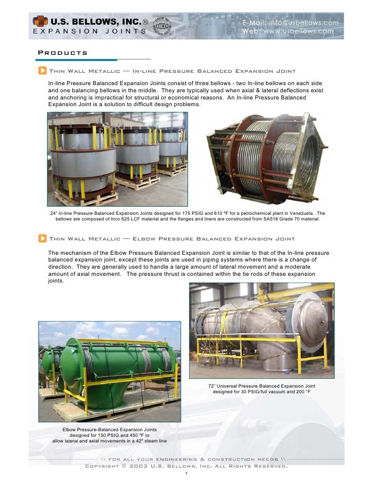 U S  Bellows Expansion Joint Brochure
