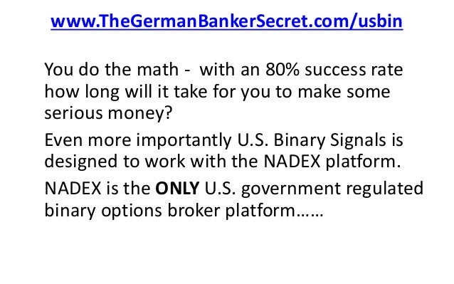 Binary options that are regulatede in the us