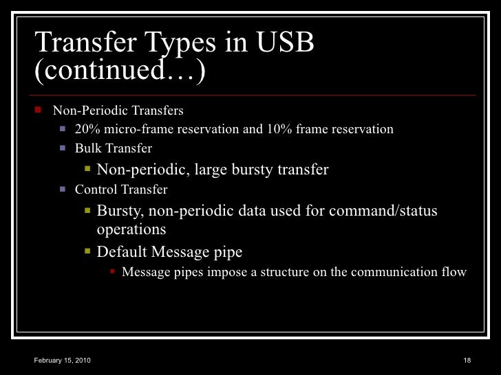 Usb Overview