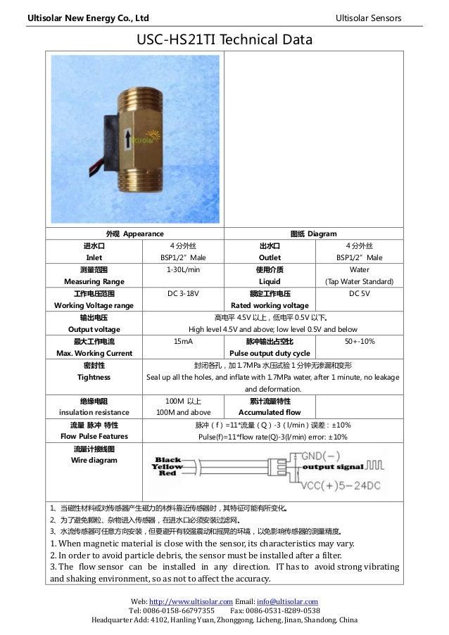 Ultisolar New Energy Co., Ltd Ultisolar Sensors Web: http://www.ultisolar.com Email: info@ultisolar.com Tel: 0086-0158-667...
