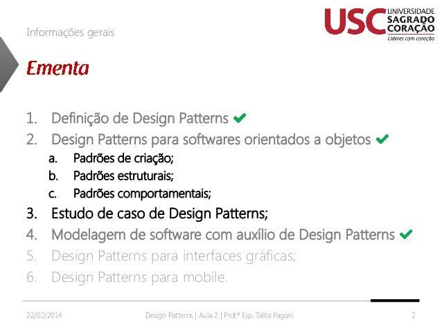 Design Patterns - Aula 2 Slide 2