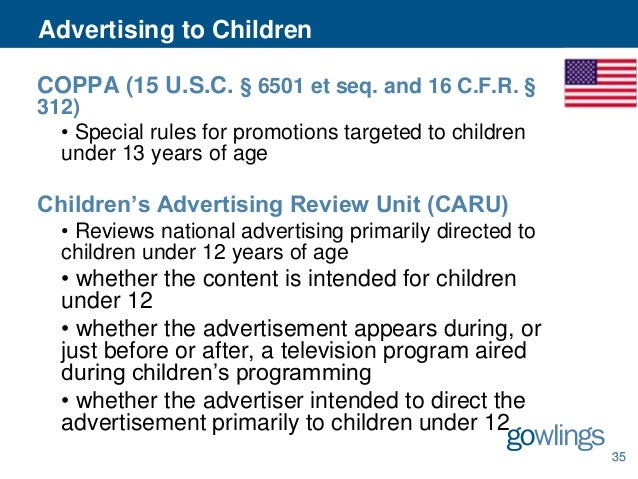 Advantages of the childrens advertising review unit caru
