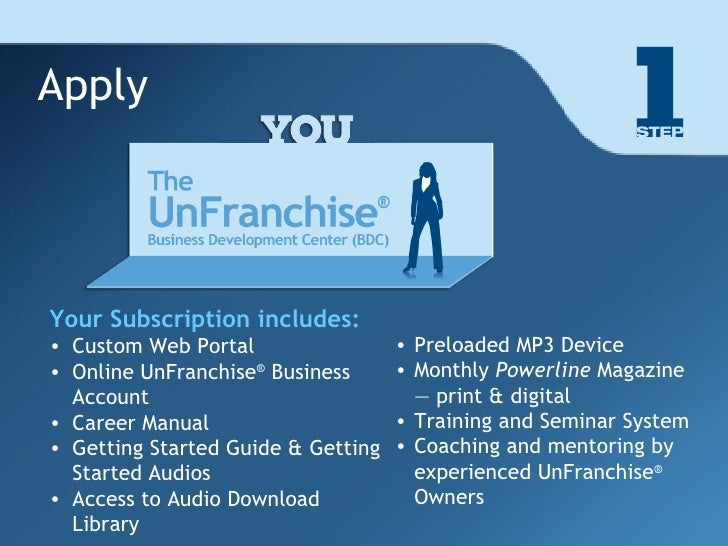 Part 1: The UnFranchise Business Development System