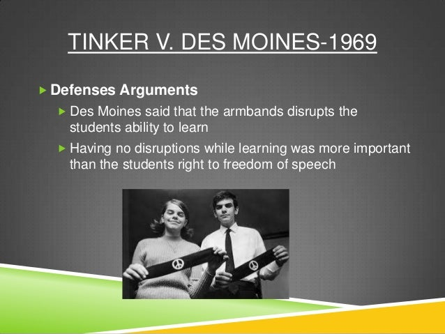 an analysis of the case tinker vs des moines and the protest against the vietnam war They explained it as their demonstration against the war in vietnam and as support so-called the christmas truce  v des moines independent community school.