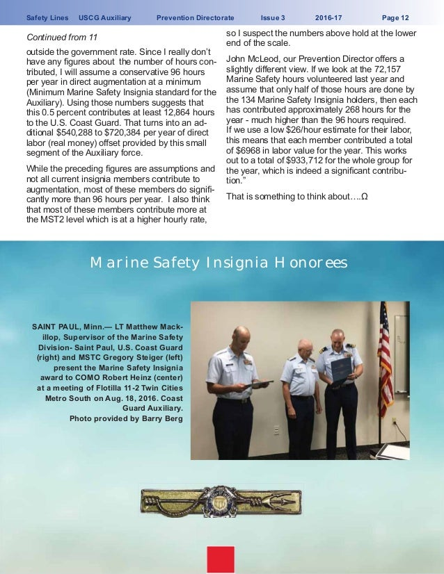 USCG-Auxiliary SAFETY LINES MAGAZINE_winter_2017, Passenger
