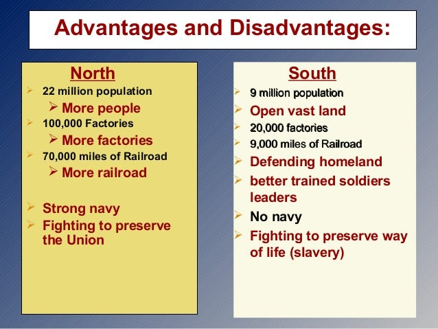 advantages designed for any northern inside the actual city war