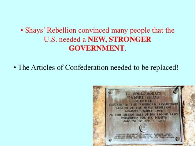 what replaced the articles of confederation