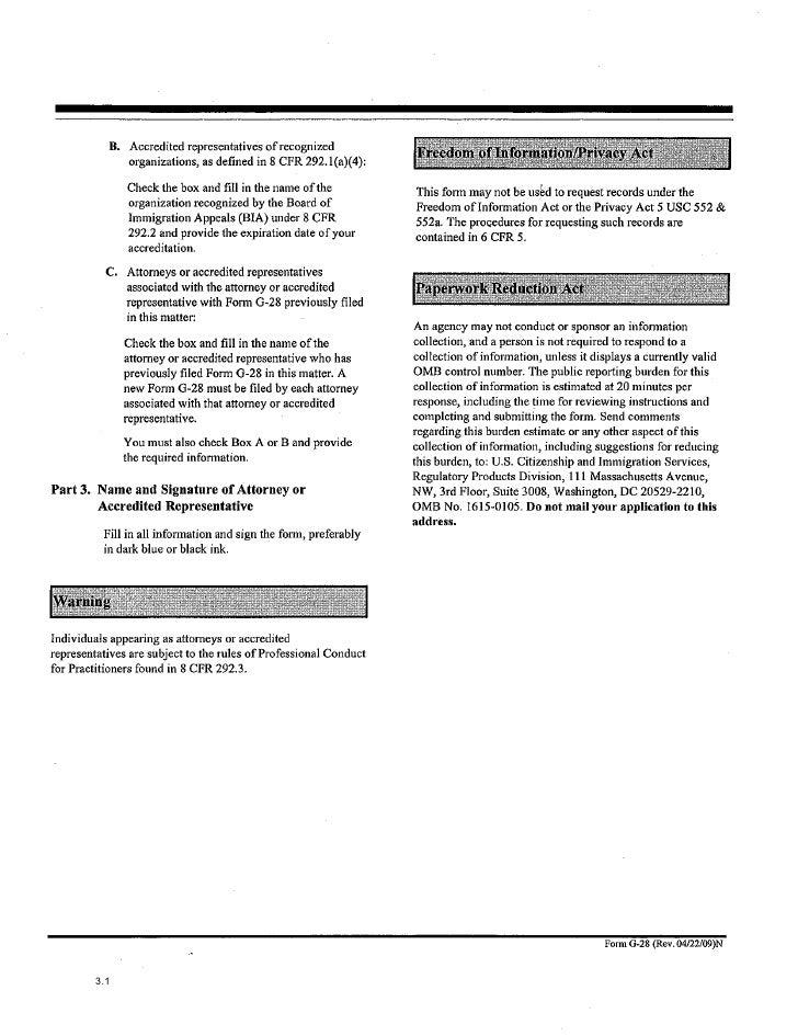 Immigration Form G 28 Hunthankk