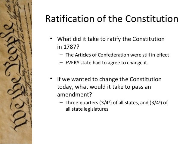 ratifying the constitution essay