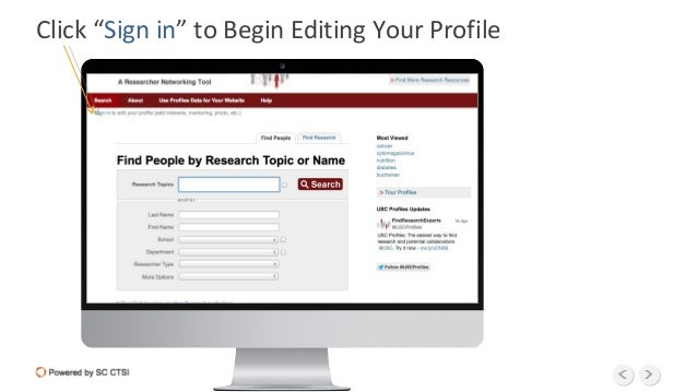"""Click """"Sign in"""" to Begin Editing Your Profile"""