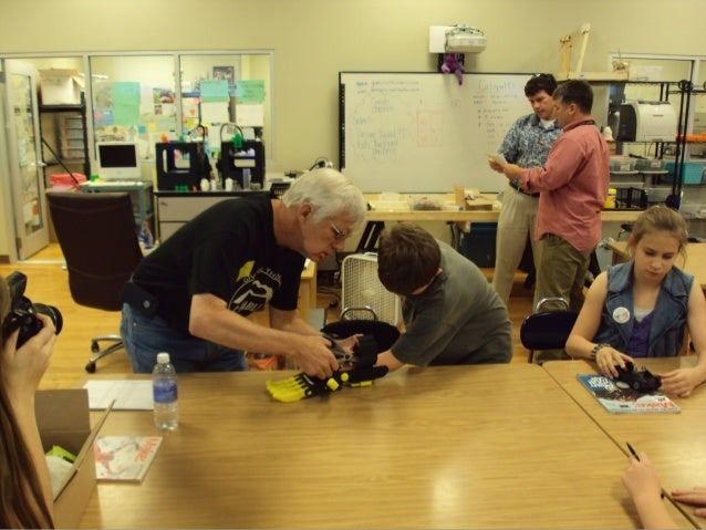 May – August 2015 • May 6 - Hand assembly training for OLLI members at Furman • May 14 - Gettys school gives hand to 9 yea...