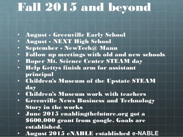 Upstate SC STEM Collaborative Meeting - August 2015