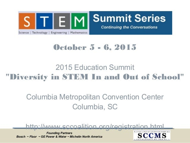 """Founding Partners Bosch ~ Fluor ~ GE Power & Water ~ Michelin North America October5 - 6, 2015 2015 Education Summit """"Div..."""