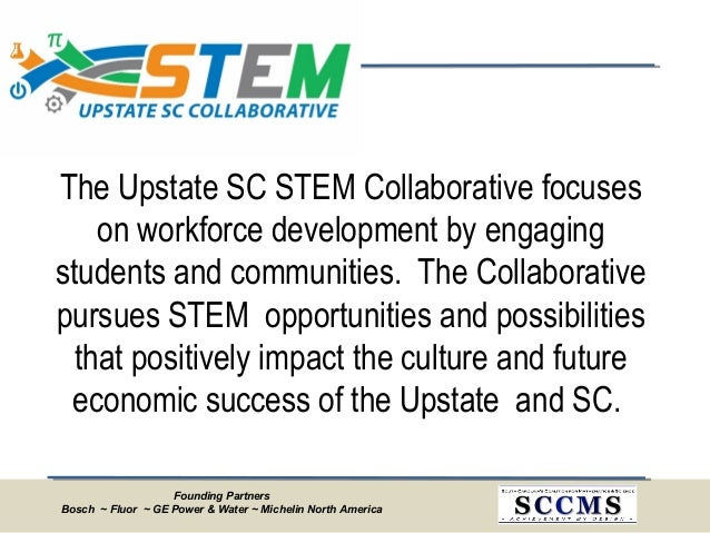 Founding Partners Bosch ~ Fluor ~ GE Power & Water ~ Michelin North America The Upstate SC STEM Collaborative focuses on w...