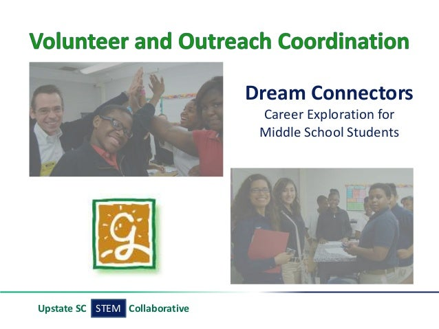 STEMUpstate SC Collaborative Dream Connectors Career Exploration for Middle School Students