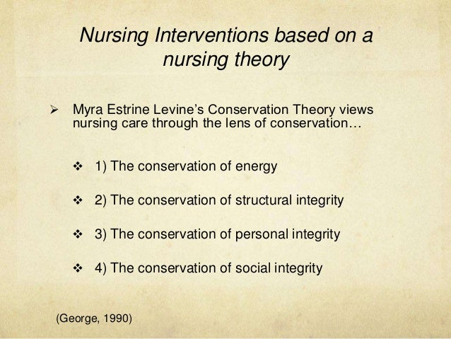 myra levine nursing theory The overview of the module myra levine's conservation theory was concluded in 1973 the theory was devolved to aid in the education of associate degree nurses to.