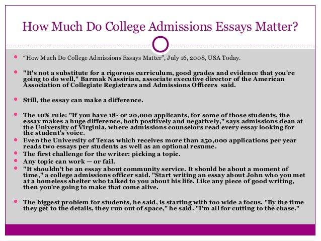 american college application essay