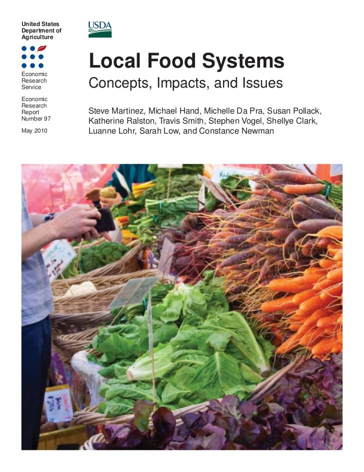 United StatesDepartment ofAgricultureEconomic                Local Food SystemsResearchService         Concepts, Impacts, ...